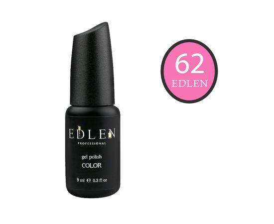 EDLEN Гель-лак № 62, розово-алый, 9 ml #1