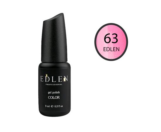 EDLEN Гель-лак № 63, клубничный с шиммером, 9 ml #1