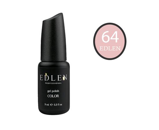 EDLEN Гель-лак № 64, персиковая пудра, 9 ml #1