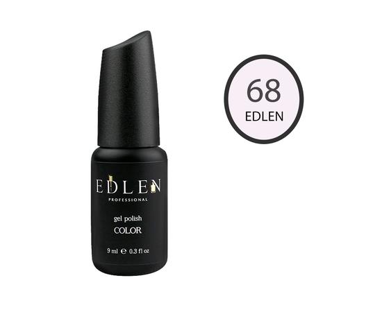 EDLEN Гель-лак № 68, сливочно-розовый, 9 ml #1