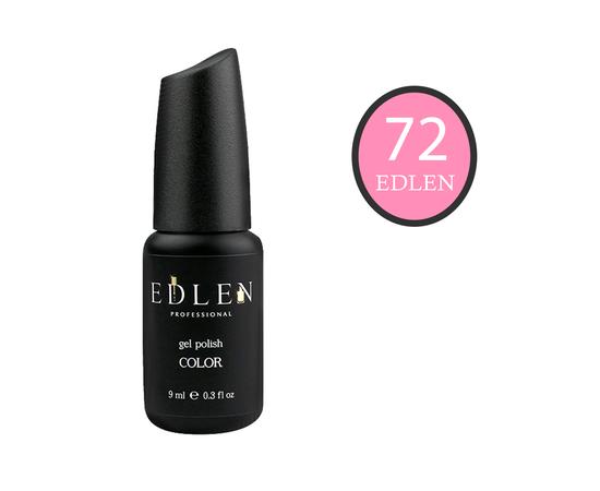 EDLEN Гель-лак № 72, нежно-розовый, 9 ml #1