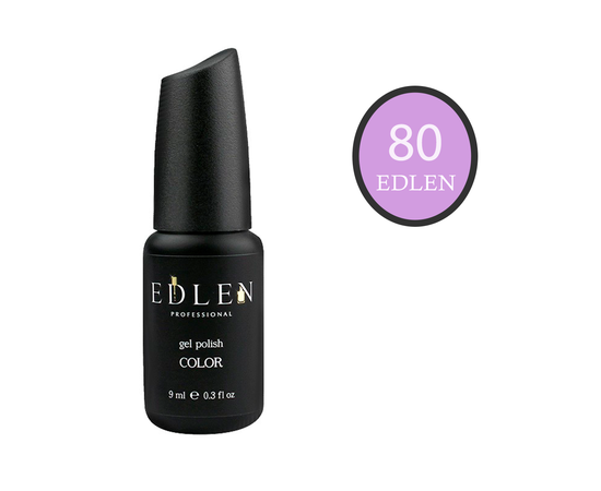 EDLEN Гель-лак № 80, сиреневый, 9 ml #1