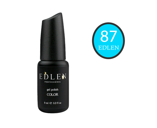 EDLEN Гель-лак № 87, ярко-бирюзовый, 9 ml #1