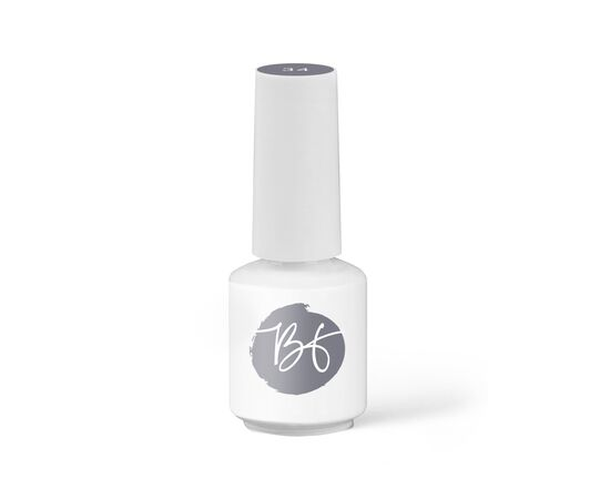 BEAUTY-FREE Гель-лак 34 Классический серый, 8ml #1