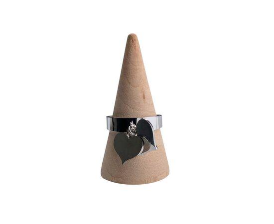 """Кольцо с подвесками """"Сердечки"""", серебряный цвет #1"""