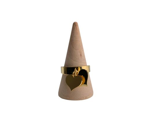 """Кольцо с подвесками """"Сердечки"""", золотистый цвет #1"""