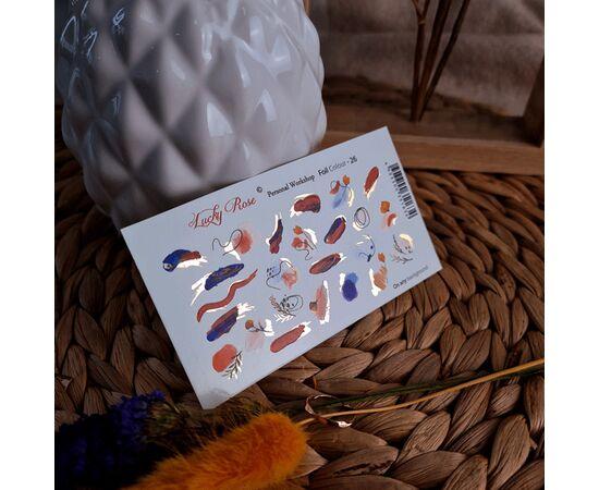 Слайдеры для ногтей Lucky Rose, Foil Colour Gold 26 #1