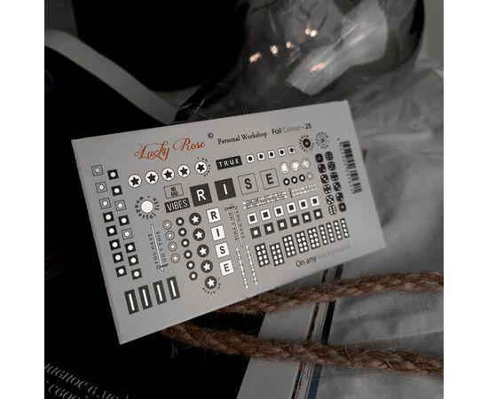 Слайдеры для ногтей Lucky Rose, Foil Colour Silver 28 #1