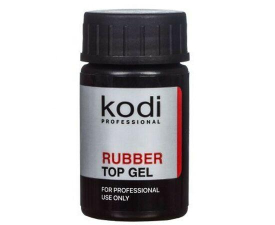 KODI Топ каучуковый глянцевый с липким слоем Rubber Top, без кисти, 14 ml #1
