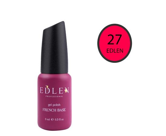 EDLEN Цветная база Color Base № 27 Темно-розовый неон, 9 ml #1