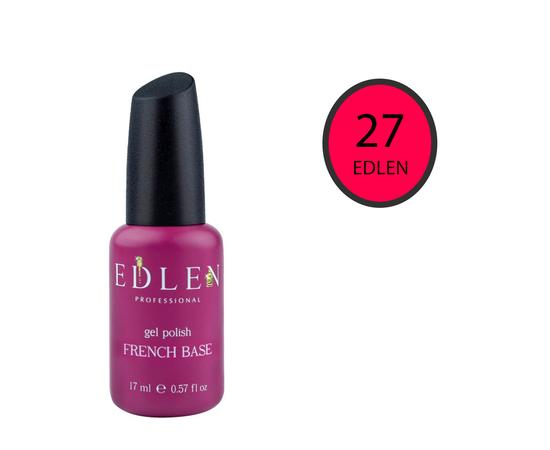 EDLEN Цветная база Color Base № 27 Темно-розовый неон, 17 ml #1