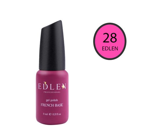 EDLEN Цветная база Color Base № 28 Ярко-розовый неон, 9 ml #1