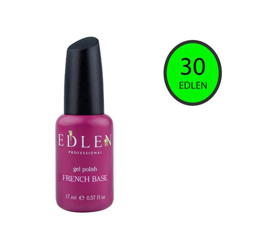 EDLEN Цветная база Color Base № 30 Зеленый неон, 17 ml #1