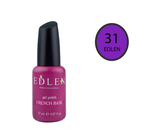 EDLEN Цветная база Color Base № 31 Орхидея, 17 ml #1