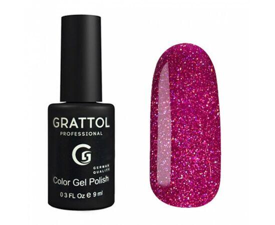 Гель-лак Grattol, Color Gel Polish OS Opal 06, пурпурный с шиммером, 9 мл #1