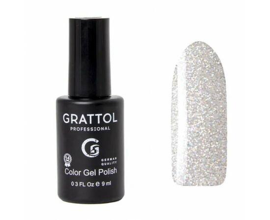 Гель-лак Grattol, Color Gel Polish OS Opal Silver, серебряный опал, 9 мл #1
